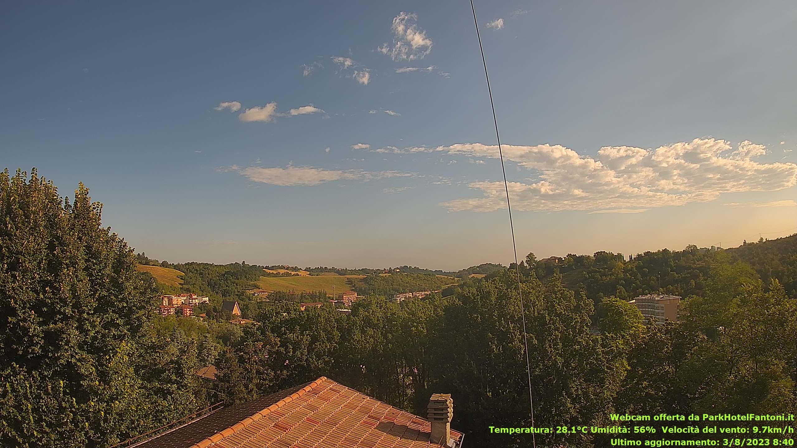 Weather data & Webcam Tabiano Terme - Salsomaggiore Terme